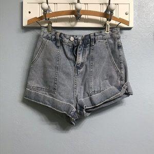 ♡❀☽ *✧・゚ Wide leg grey jean shorts ♡❀☽ *✧・゚